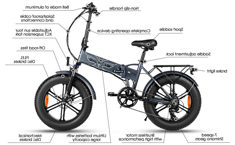 "20"" Folding Bike Mountain Bicycle"