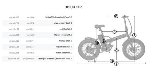 """Folding 20"""" 500W FatTire E Beach Ebike LCD"""