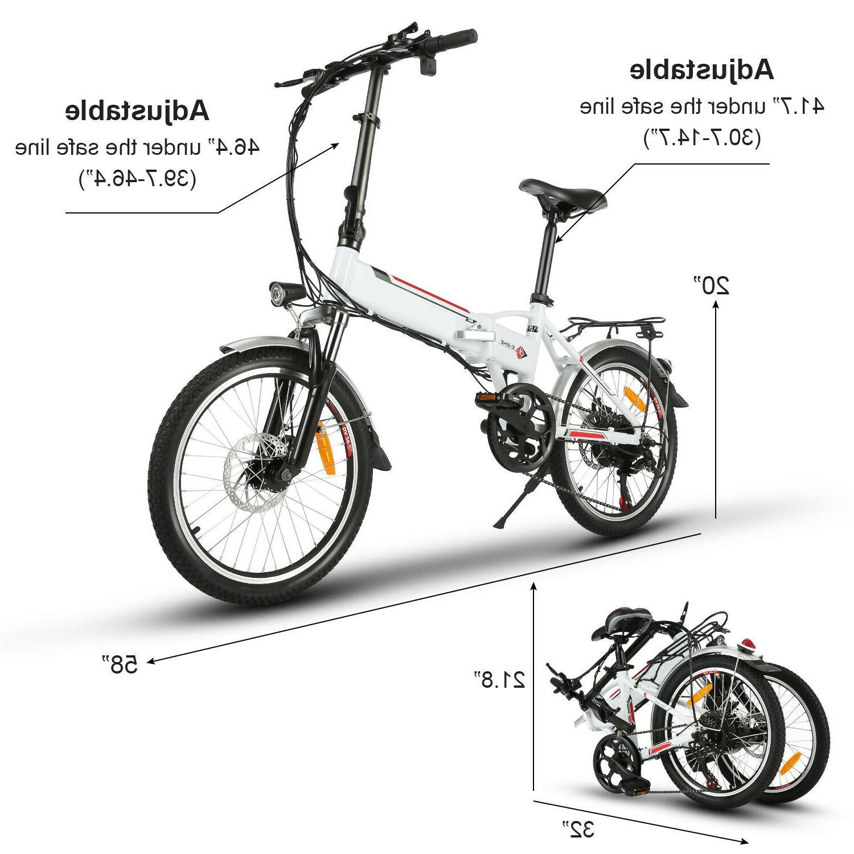 Folding Bike Ebike 20 Inch +36V 8Ah Removable Battery~