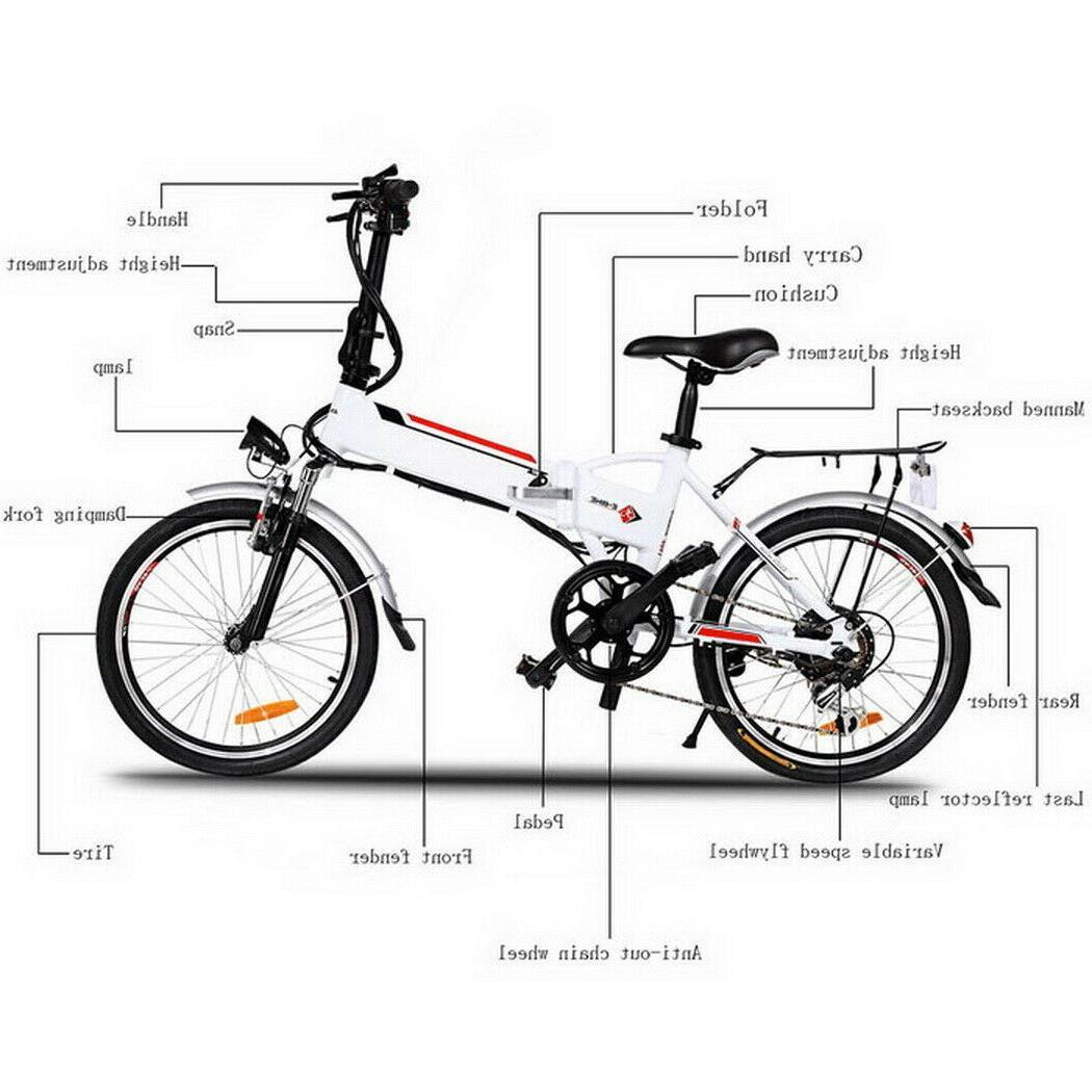 Folding Electric Bike 20Inch 36V 8 Removable Battery