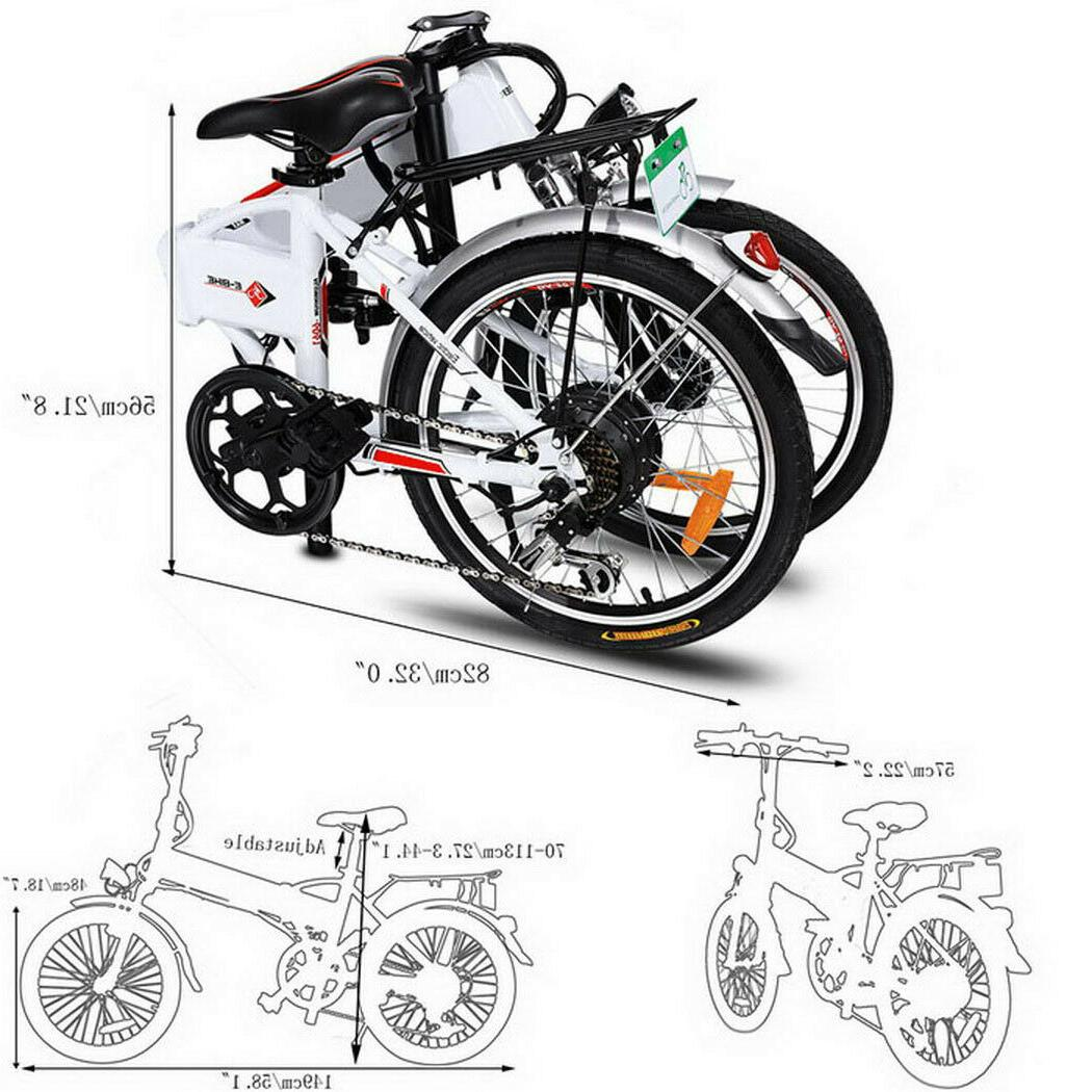 Folding Electric 20Inch Bicycle 36V 8 Ah Removable Battery