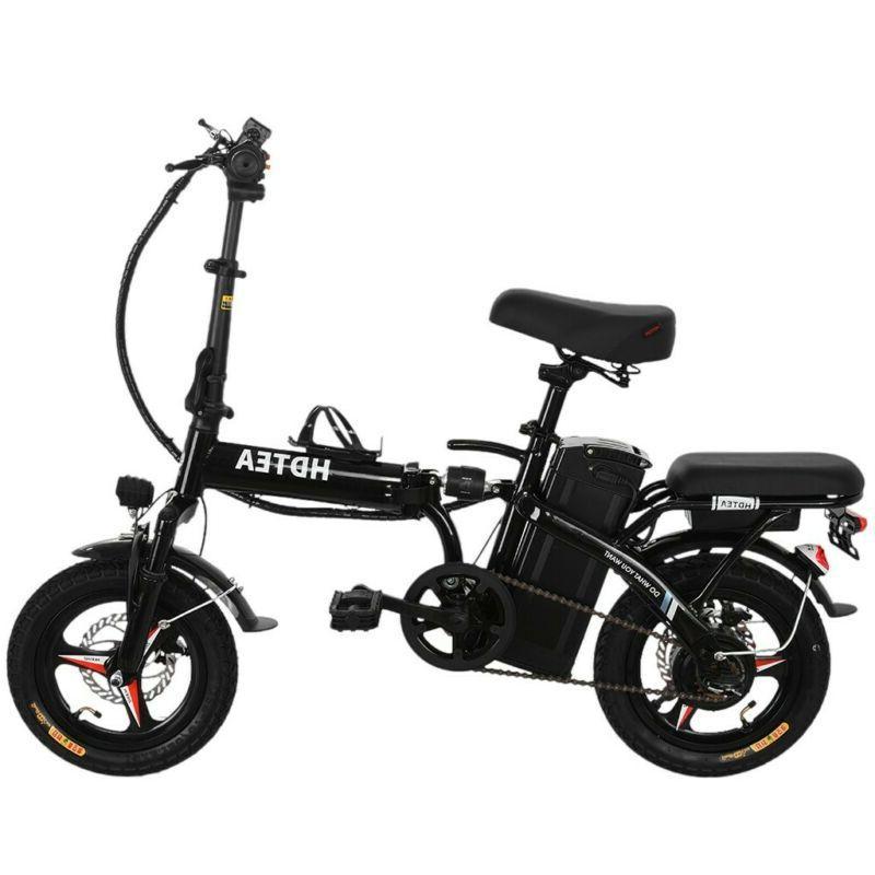 Folding Electric Bike,48V 14inch Electric Bike Adults Teenagers