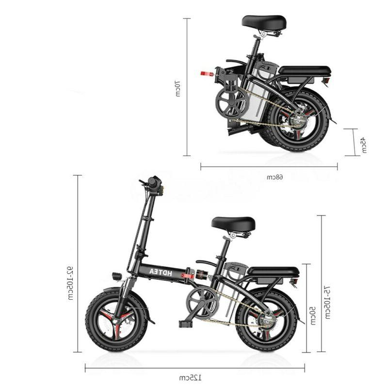 Folding Electric Bike 14inch Bike Suitable For Adults &Teenagers