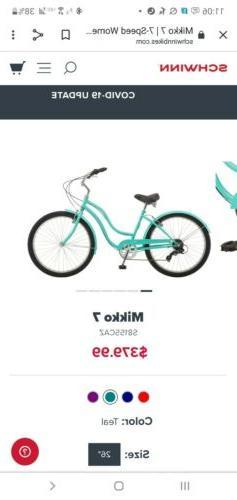 """NEW ETG women's 48V 10.5Ah 1000 Watt 26"""" ebike Schwinn Mik"""