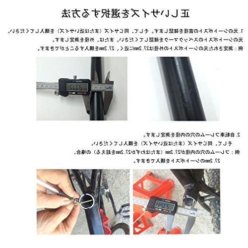 UPANBIKE Mountain Bike Bicycle Seat Extra 450mm 28.6mm