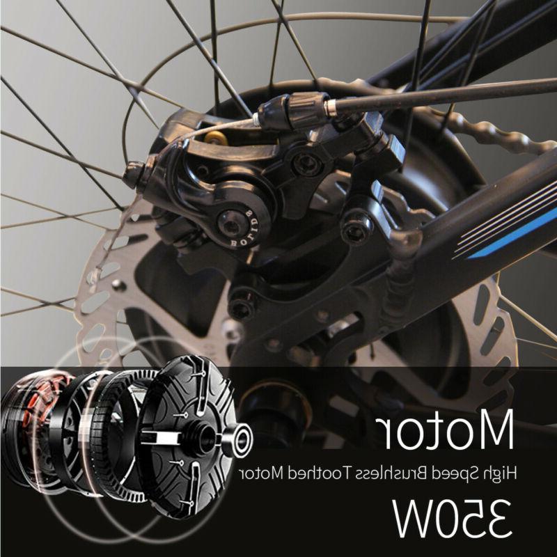 Black Electric City Cycling EBike 36V 350W US