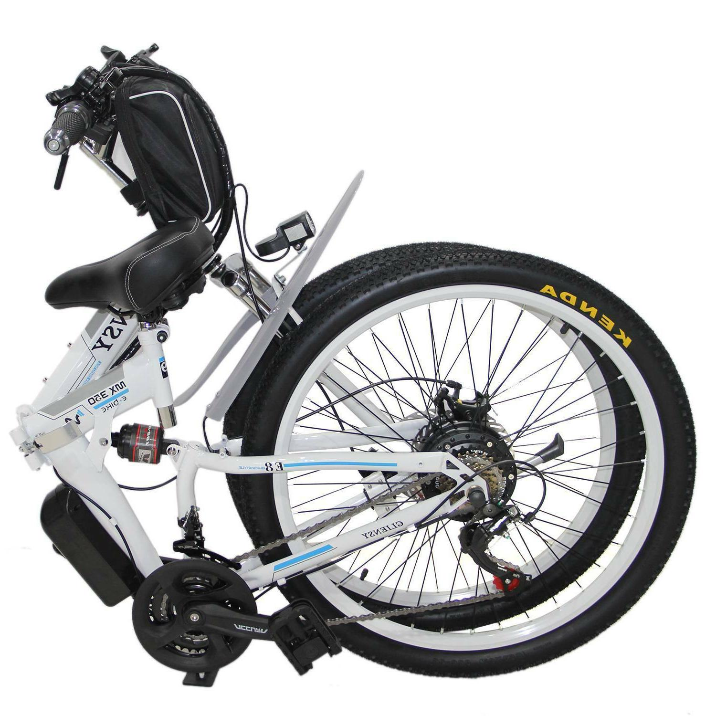 Black Electric Bike City Cycling 36V 350W US