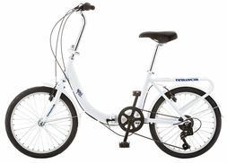 Schwinn Loop Adult Folding Bike Men's Women's 20 inch wheel