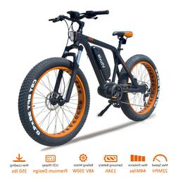 "Mid Drive Electric Bike 26"" 48V Electric Mountain Bicycle Ba"