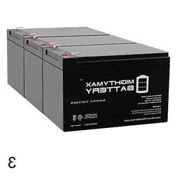 Mighty Max 3 Pack - 12V 12Ah Ebike Electric Scooter Battery