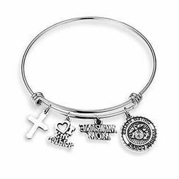EIGSO Military Mom Gift Army Mom Bracelet Army Navy Marine