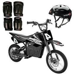 Razor MX650 Electric Dirt Bike + Youth Helmet + Elbow & Knee