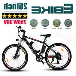 New 26'' Electric Bike Mountain Bicycle Damping Ebike Shiman