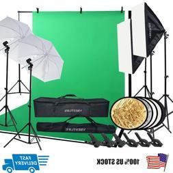 VBESTLIFE Photography Studio Kit Backdrop Stand Softbox Umbr