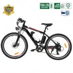 Shimano 26'' Electric Bike Mountain Bicycle EBike With Remov