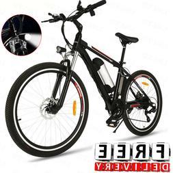 Shimano 26'' Electric Bike Mountain Bicycle & 36V Removable