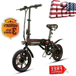 "Samebike Smart Electric Bike Bicycle 14"" 36V 250W Adults Por"