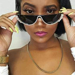 Sunglasses Fashion Shades Rhinestone Women Crystal Sexy Cat