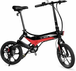 Swagtron Swagcycle EB-7 Elite Folding Electric Bike, 16-Inch