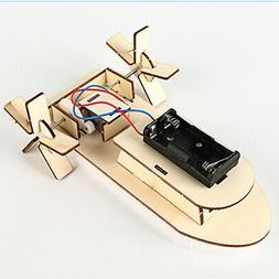 Wooden Electric Vehicle DIY Kit Model Toy Assembly Kits for